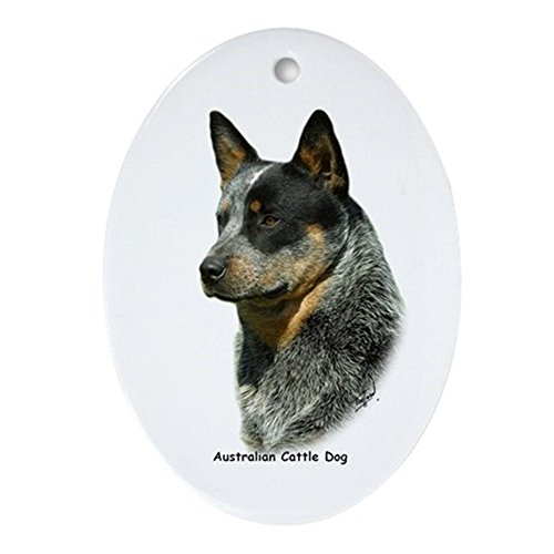 CafePress Australian Cattle Dog 9F061D-06 Ornament (Oval) Oval Holiday Christmas Ornament