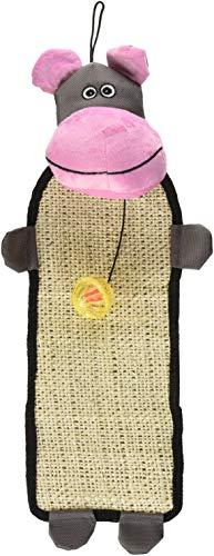 Pet Vida cty1pk paw-pleasant Sisal & Yute Alfombra Diseño de gato rascador de espalda con Toy, talla única), color rosa y...