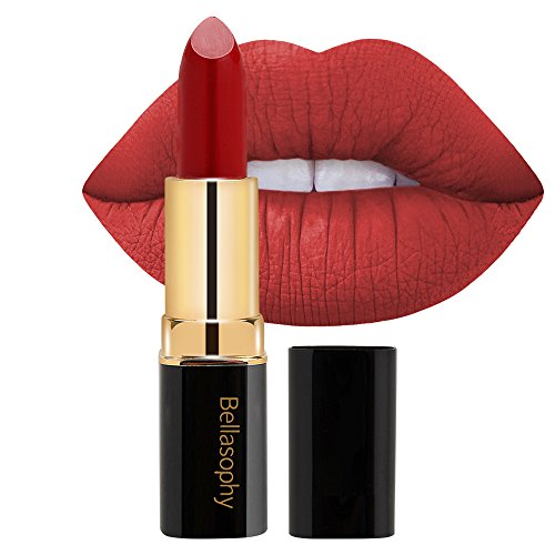Bellasophy Non-Fade Matte Velvet Lipstick Long Lasting 12 Hours No Flaky ()