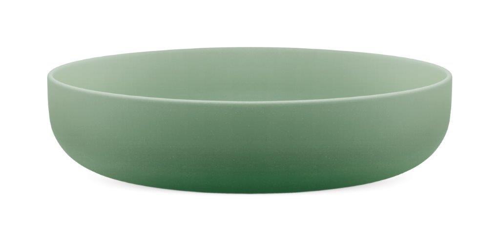 /En el Color Trend Caucho Verde Point-Virgule Ensaladera bamb/ú Cuenco para Servir Tazones Frutas Chip Cuenco Ensalada 24/cm x 5,5/cm/ Fibra de bamb/ú Biodegradable