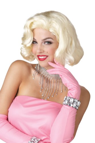 California Costumes Marilyn Monroe Diamonds Wig, Blonde, One Size]()