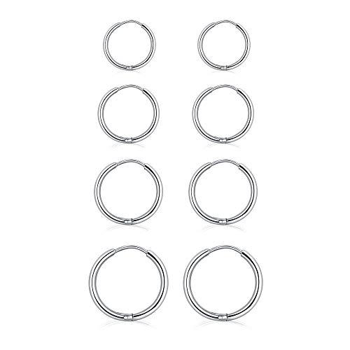 (Earrings JETO Stainless Steel Hoop Earrings Set Cute Huggie Earrings For Women/Man,As a Present)