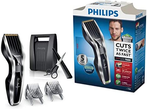 Philips HAIRCLIPPER Series 7000 HC7450/80 - Afeitadora (0,5 mm, 2 ...