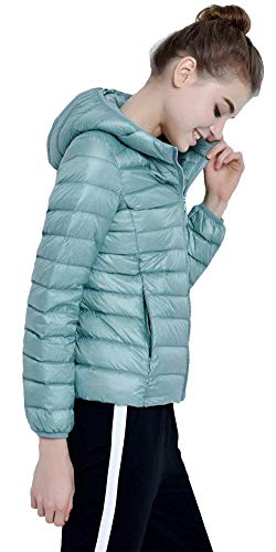 Qualità Cerniera Di Manica Mantello Piumino Alta Leggero Caldo Blau Cappuccio Grün Laterali Lunga Monocromo Invernali Vintage Tasche Corto Con Coat Cappotto Donna U7pBgn