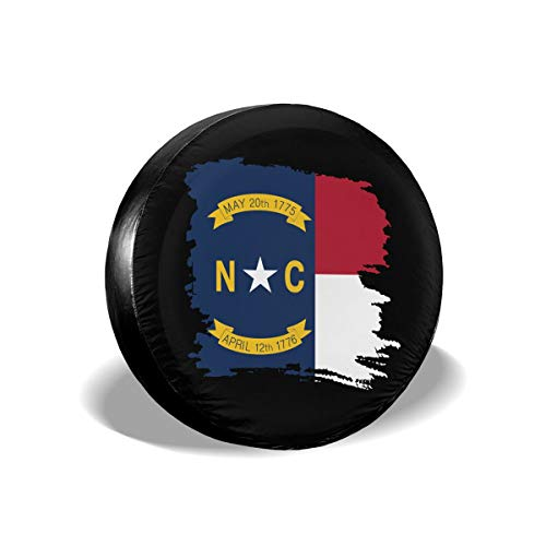 MXPINK North Carolina Flag Spare Tire Cover, Universal Fit for Jeep,Trailer, RV, SUV, Truck and Many Vehicle, Diameter 14