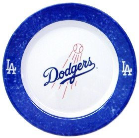 MLB Los Angeles Dodgers Dinner Plates (Set Of 4) (Baseball Dinner Plates)
