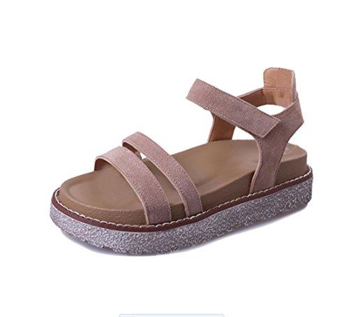 Sandalias Gruesas Hembra Suelta marrón
