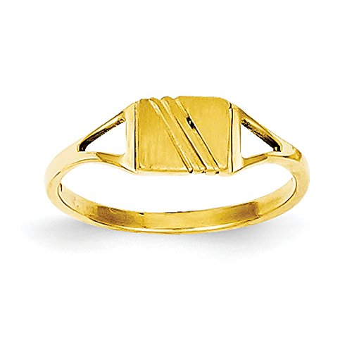 Baby and Children 14K Yellow Gold Signet - Childrens Ring Signet Gold Yellow