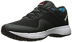 Reebok Men's DMX Max Supreme Walking Shoe, Flat Grey/Riot Red/Black, 10 M US