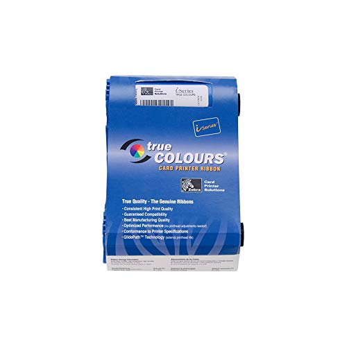 Zebra 800017-209 True Colours White Monochrome Ribbon for Zebra iSeries printers P100i, P110i, P110 and P120i. 850 - P100i Card Color Printer