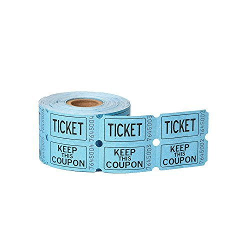 Double Roll of Raffle Tickets, 500ct (3 Pack)