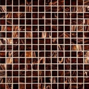 MS International 3/4 in. x 3/4 in. Brown Iridescent Glass Mosaic Floor & Wall Tile - Single Sheet Sample - SAMPLE LISTING - ONLY ONE ALLOWED PER HOUSEHOLD