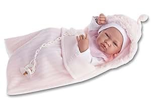 Muñecas Antonio Juan - Muñeca recién nacido con saco, color rosa (5066)