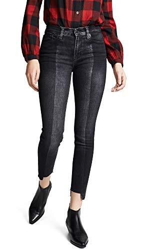 (Hudson Jeans Women's NICO Midrise Super Skinny Ankle 5 Pocket Jean, Black Sand, 26 )
