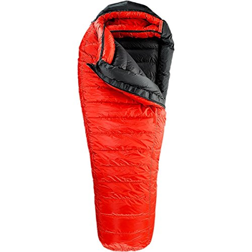 Western Mountaineering Bison GWS -40F Degree Down Sleeping Bag – Long Left Zip – Red