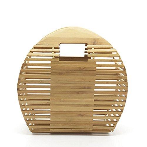 À Plage D'été Sac Fourre Bambou Femme Circulaire Main YJIUJIU Semi Artisanal Tout qBnOTE