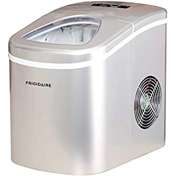 Red Frigidaire Compact Ice Maker 26-Lb EFIC102-RED of ice