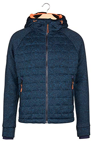 Superdry Indigo Marl Pull Navy Ziphood Quilted Storm Homme rqXABrw