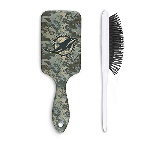 (For Football Fans Army Camo Cushion Bristles Pin Hairbrush Paddle Brush Comb Reducing Hair Breakage Adding Shine Mens Womens Kids Girl for Hair Straightening & Smoothing for Wet Dry hair)