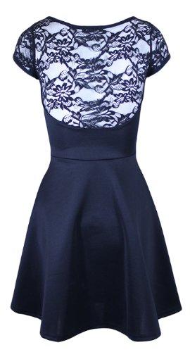 Circuito de Mini Oromiss diseño de corazones e instrucciones para hacer vestidos con revestimiento de A diseño Floral corto vestidos de diseño de una línea de ganchillo acampanada negro