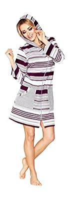Women SOFT Cotton Bath Robe Housecoat Dressing Gown Bathrobe Zip Up