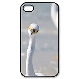 YNACASE(TM) Egret Personalized Hard Back Cover Case for iPhone 4,4G,4S,Custom Phone Case with Egret