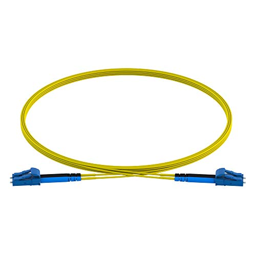 CableRack 1 Meter LC to LC Single Mode Fiber 9/125 Fiber Patch Cable (5-Pack) by CableRack (Image #1)