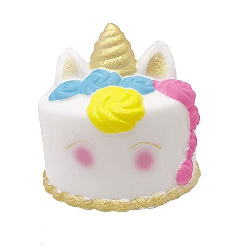 NOMENI Decompression Rose Unicorn Cake Rebound Jigsaw Toys Toys Exquisite Cartoon Cake Slow Rise Cream Scented Pressure