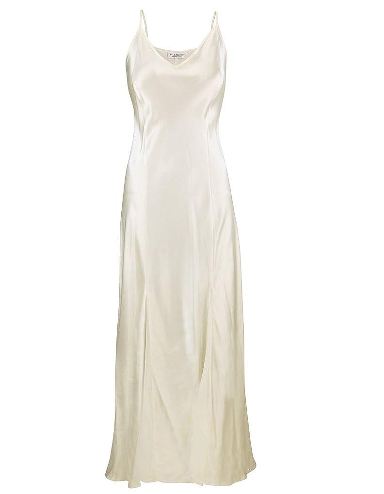 Eva B. Bitzer Silk Classic Pearl White Spaghetti Strap Long Nightdress  27319898 XXLge at Amazon Women s Clothing store  1d7a07143