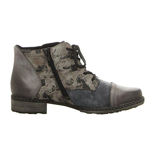 Remonte Damen Stiefelette - Blau Schuhe in Übergrößen negro/ozean/cigar / 15