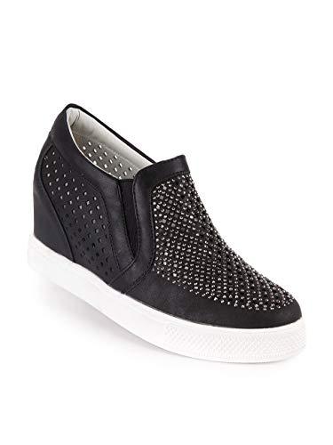 Sneakers Ecopelle Con Nero Janessa Donna Strass Traforata dxSdZ8P