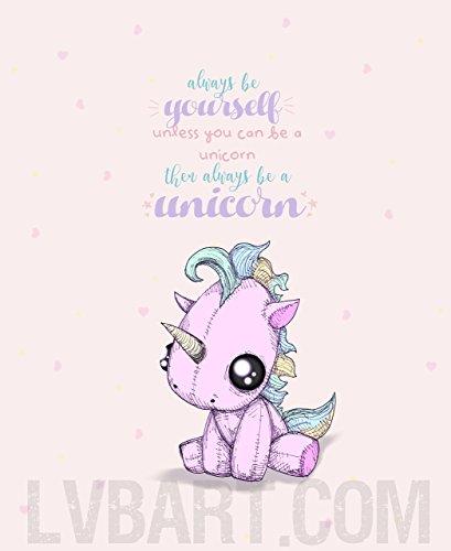 (Be Yourself Unicorn Fine Art Print)