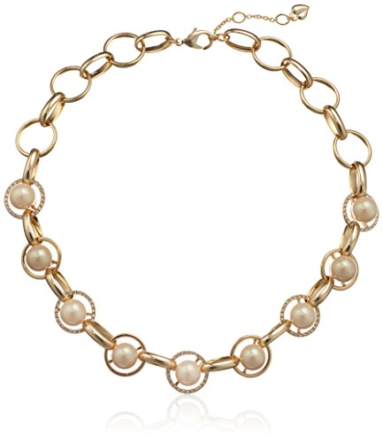 Carolee Majestic Pearl Gold 3-5 Mils Crystal Necklace