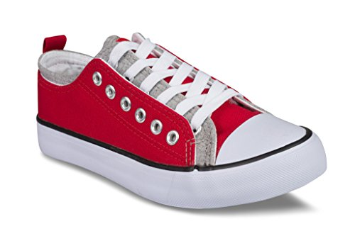 Twisted Women's Kix Dul Double Eyelet Fashion Sneaker – RED, Size 9