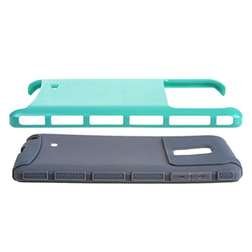 2 in 1 Case for Galaxy Note Edge , Hybrid Combination [ Silicone & PC ] Dual Layer Defender Bumper Case Protective Rear Back Cover for Samsung Galaxy Note Edge N9150 Mint Green