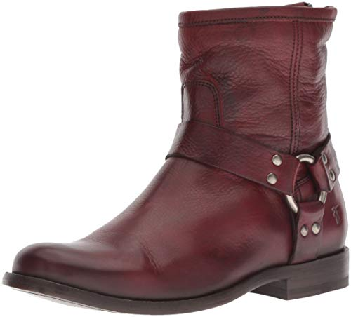 FRYE Women's Phillip Harness Short Ankle Boot Burnt red 8.5 M US