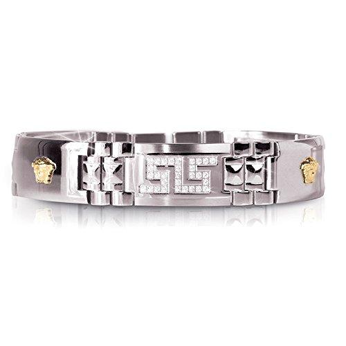 Medusa Men's Bracelet - Two-Tone Stainless Steel - 8.5