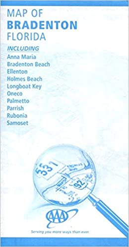 Map Of Bradenton Florida Including Anna Maria Bradenton Beach
