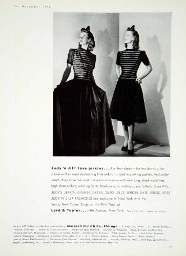 1940-ad-judy-n-jill-jerkin-dress-womens-fashion-forties-taffeta-marshall-field-original-print-ad