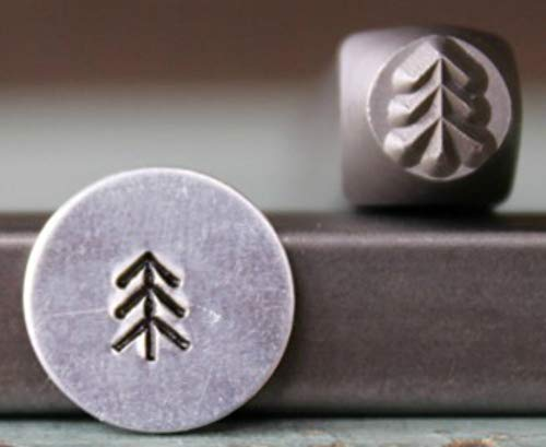 (Brand New 5mm Simple Pine Tree 1 Metal Punch Design Stamp - Supply Guy -)