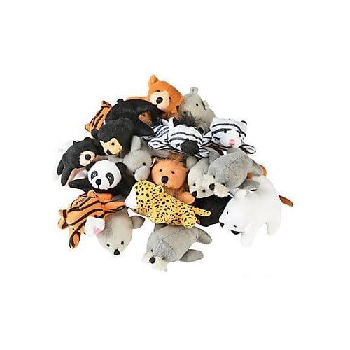 On Sale Fun Express 13696586 Plush Mini Zoo Animal Assortment