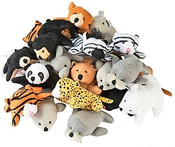 Plush Assortment (Fun Express 13696586 Plush Mini Zoo Animal Assortment)