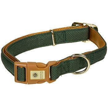 "AKC Nylon Mesh 5/8"" Adjustable Dog Collar in Hunter Green, Small"