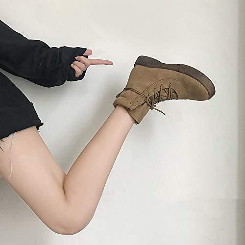IWxez Damenmode Stiefel PU (Polyurethan) (Polyurethan) (Polyurethan) Winter Casual Stiefel Flache Ferse Runde Zehe Mid-Calf Stiefel Schwarz Khaki 2d48ac