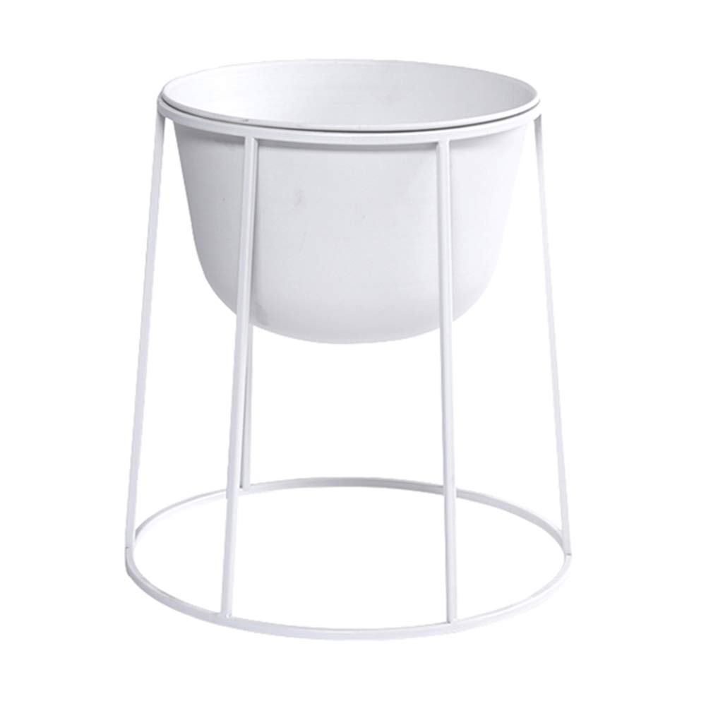 LJHA huajia Flower Stand, Nordic Iron Art Floor-Standing Flower Shop Restaurant Flower Stand (Color : White, Size : 384132CM) by GYH Flower stand