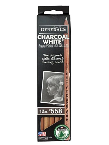 General's Charcoal White (Pencil Lead Charcoal)