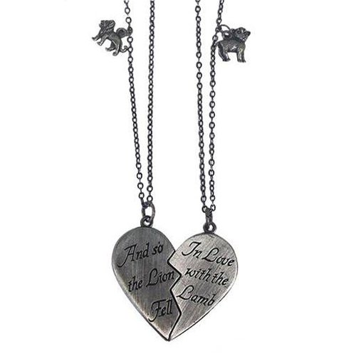 Twilight Movie - Lion and Lamb Broken Heart Necklace Set by NECA (Image #1)