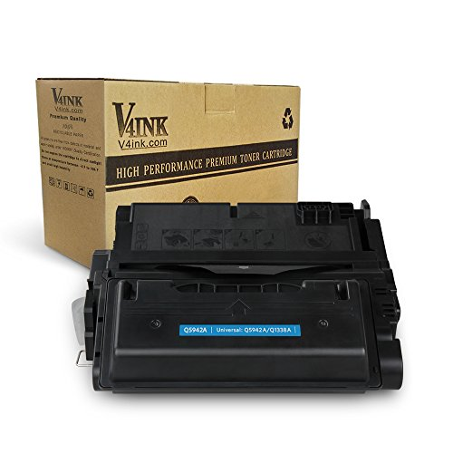 V4INK 1 Pack Compatible Replacement for HP Q5942A Q1338A 42A 38A Toner Cartridge - for use in HP LaserJet 4250, 4250N, 4250TN, 4250DTN, 4350N, 4350TN, 4350DTN Series Printers 4350n Printer