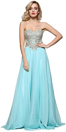 Evening Blue Annie's Embroidery Strapless Dresses Women's Gown Bridal Prom Beaded gzqrF7WXnq