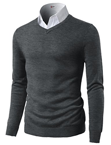 Crew-Neck Sweater Charcoal US XL/Asia 2XL (CMOSWL015) ()
